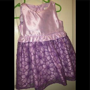 Purple Flowery Baby Girl Dress